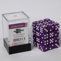Opaque Dobbelstenen 12mm: Paars
