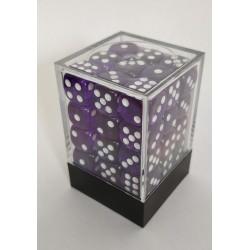 Transparante Dobbelstenen 12mm: Donker Paars