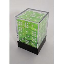 Transparante Dobbelstenen 12mm: Licht groen