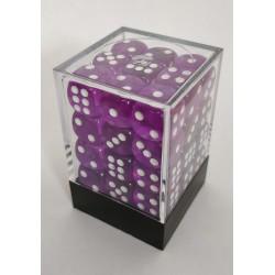 Transparante Dobbelstenen 12mm: Violet