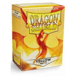 Sleeves Dragon Shield Matte Yellow (100 stuks)