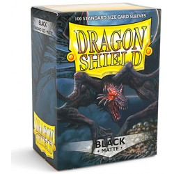 Sleeves Dragon Shield Matte Black (Zwart) (100 stuks)