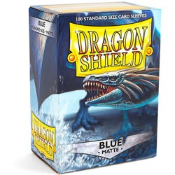 Sleeves Dragon Shield Matte Blue (Blauw) (100 stuks)