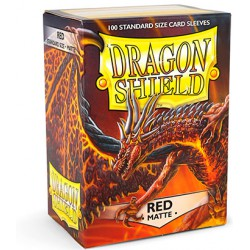 Sleeves Dragon Shield Matte Red (Rood) (100 stuks)