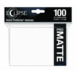 Ultra Pro Sleeve Eclipse Matte - Arctic White (100 Sleeves)