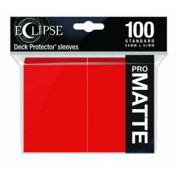 Ultra Pro Sleeve Eclipse Matte - Apple Red (100 Sleeves)