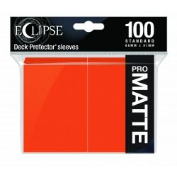 Ultra Pro Sleeve Eclipse Matte - Pumpkin Orange (100 Sleeves)
