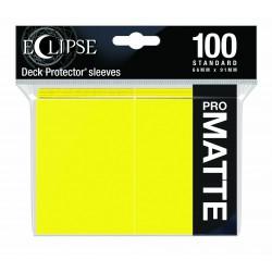 Ultra Pro Sleeve Eclipse Matte - Lemon Yellow (100 Sleeves)