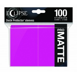 Ultra Pro Sleeve Eclipse Matte - Hot Pink (100 Sleeves)