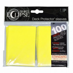 Ultra Pro Sleeve Eclipse Matte - Lemon Yellow (100 Sleeves)